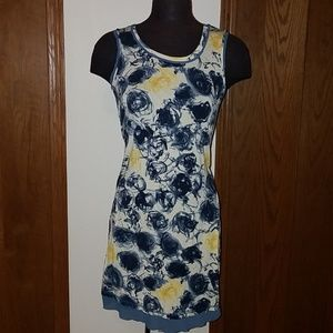 Simply Vera Wang scribble floral tank dress